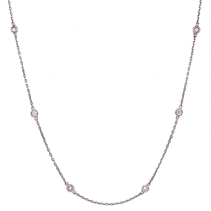 Diamond by the Yard White Gold Necklace