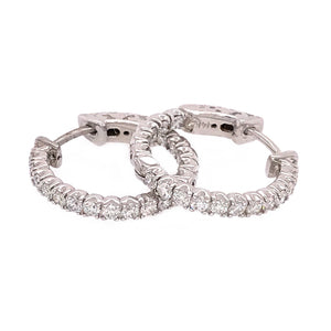 Classic Hoops Diamond Earrings