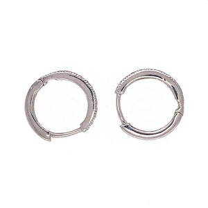 Classic Small Hoops Diamond Earrings