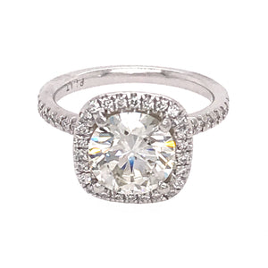 Brillant Pave Halo Diamond Engagement Ring