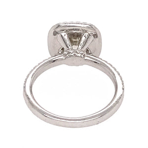 Beautiful Platinum 1.58 carat Diamond Engagement Ring
