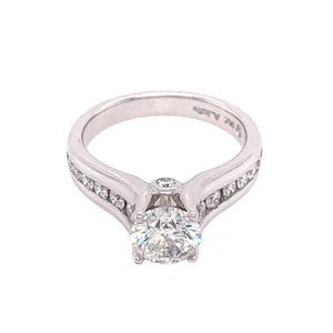 14k White Gold 1.16 Carat Diamond Engagement Ring