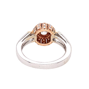 18k Two-Tone Gold Diamond Engagement Ring