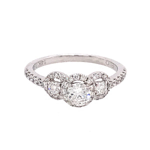 ELO 14k White Gold Diamond Engagement Ring