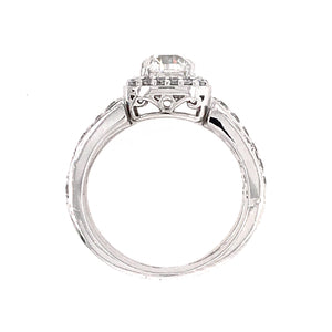 14k White Gold 1.00 Carat Diamond Engagement Ring
