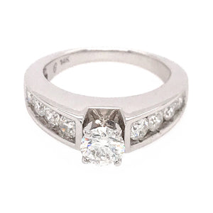 Sweet 14k White Gold Diamond Engagement Ring
