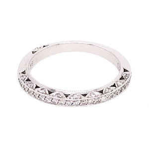 Tacori 18k White Gold Diamond Wedding Band Ring