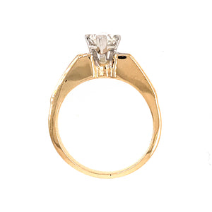 14k Yellow Gold 1.01 Carat Marquise Cut Diamond Engagement Ring