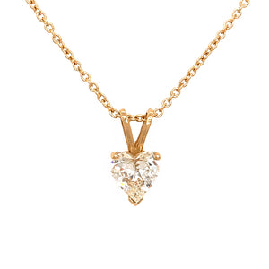 Single 1.58 carat Diamond Pendant Necklace