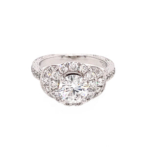 Neil Lane 14k White Gold 0.80 carat Diamond Engagement Ring