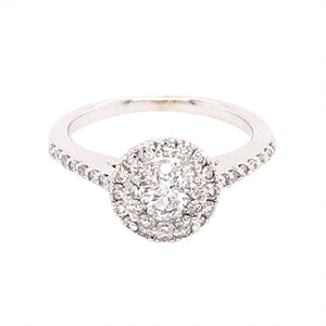 Platinum Round Brilliant Cut 0.75 Carat Diamond Enagement Ring