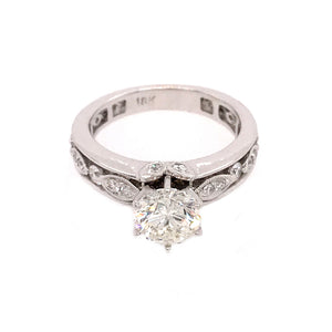 18k White Gold 1.32 carat Diamond Engagement Ring