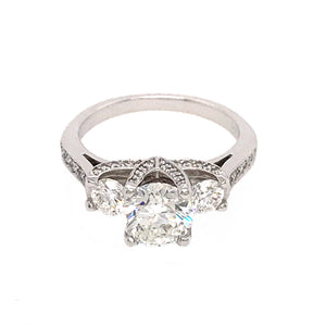 Platinum 3 Diamond Engagement Ring