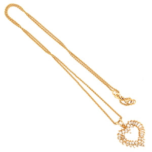 Sweetheart 14k Yellow Gold Heart Shaped Diamond Pendant Necklace