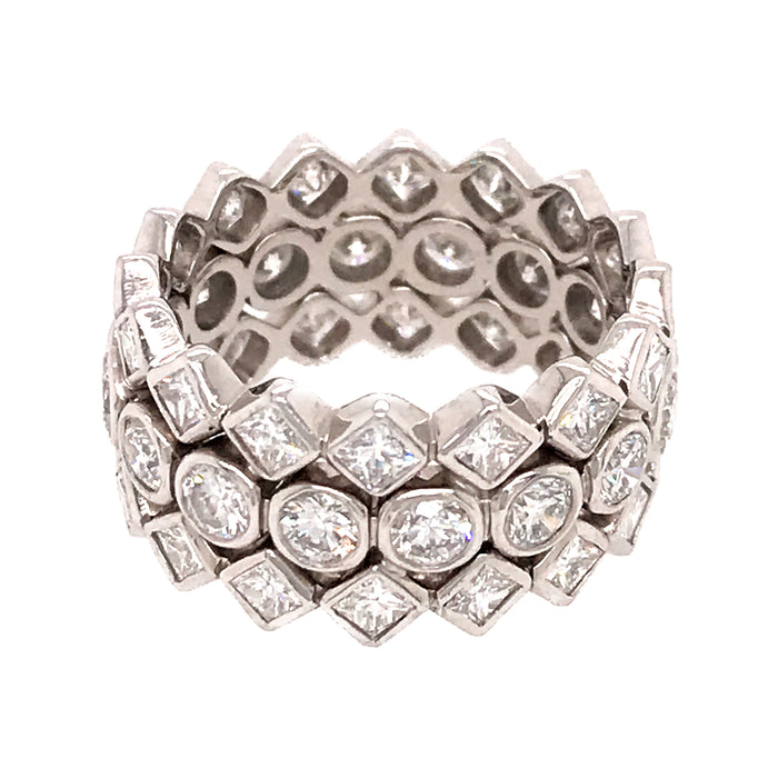 Elegant Wide Diamond Band Ring