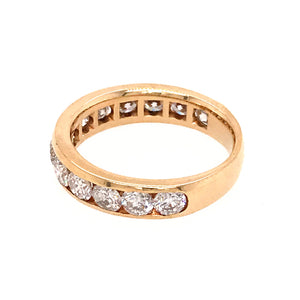 Classic 14k Yellow Gold Diamond Band Ring