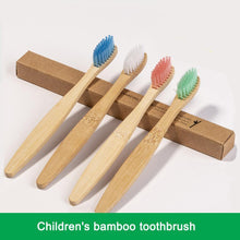 Load image into Gallery viewer, Children Bamboo Toothbrush Biodegradable Pack of 50 - Earth Thanks - Children Bamboo Toothbrush Biodegradable Pack of 50 - bamboo, bathroom, body care, children, compostable, health, home, non toxic, organic, outdoor, portable, recyclable, recycle, recycle friendly, reusable, self-care, soft, teeth, toilet, toothbrush, travel