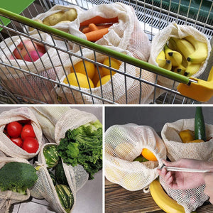 Reusable Cotton Mesh Bags