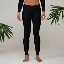 Load image into Gallery viewer, Yoga Leggings Unisex Black - Earth Thanks - Yoga Leggings Unisex Black - accessories, apparel, city wear, closet, clothes, comfortable clothes, compostable, cotton, cotton fiber, disposable, fashion, fiber, garment, gym exercise, leggings, pilates, recyclable, recycle, recycle friendly, reusable, socks, sport, sports leggings, sportswear, sterile, street wear, underwear, unisex, vegan friendly, wardrobe, winter, woman, women, yoga, yoga leggings