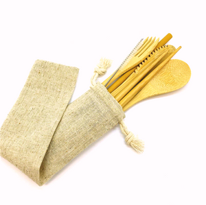 Bamboo Cutlery Set of 8 pieces
