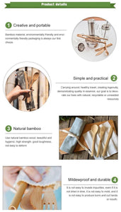 Bamboo Cutlery Set (8 pieces) [variant_title] Travel - earth-thanks.myshopify.com