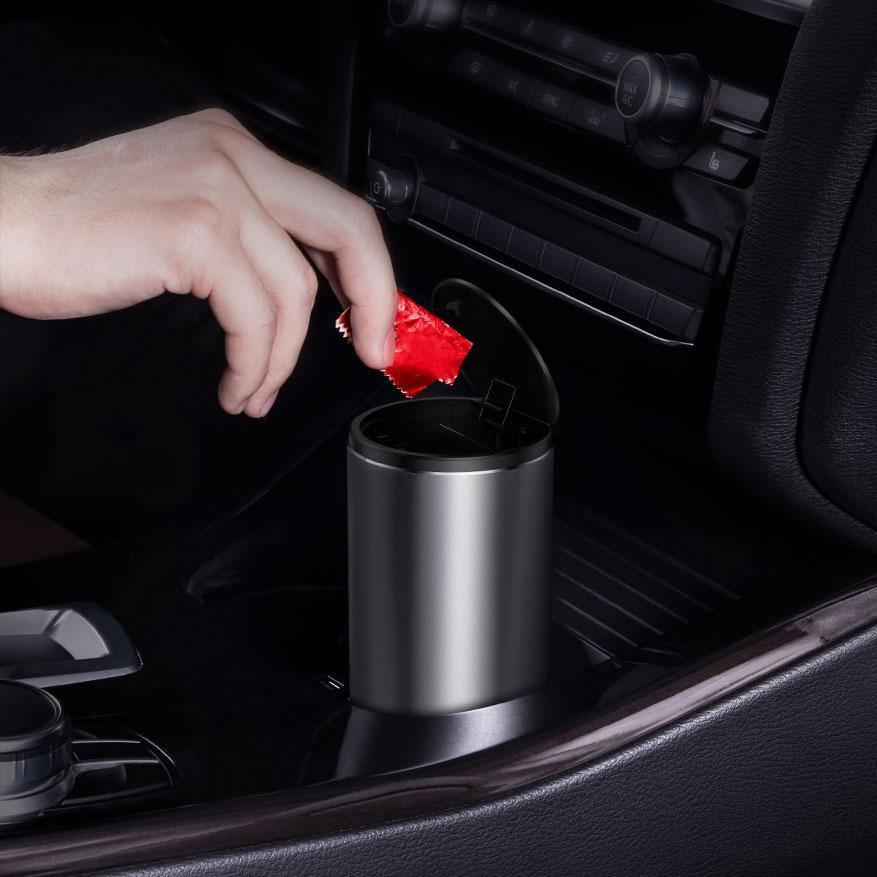 Car Trash Can - Earth Thanks - Car Trash Can - natural, vegan, eco-friendly, organic, sustainable, auto, automobile, black, business, car, control, device, drive, driver, equipment, gearshift, holding, inside, mechanical device, mechanism, technology, transport, transportation, vehicle