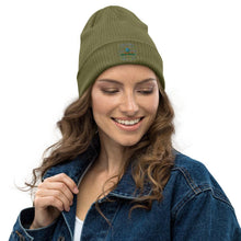 Load image into Gallery viewer, Say no to plastic - Organic ribbed beanie - Earth Thanks - Say no to plastic - Organic ribbed beanie - accessories, cotton, cotton fiber, hat, non toxic, organic cotton, outdoor, portable, recyclable, recycle friendly, reusable, unisex