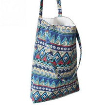 Load image into Gallery viewer, Natural Linen and Cotton Tote Shopping Bag
