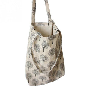 Natural Linen and Cotton Tote Shopping Bag