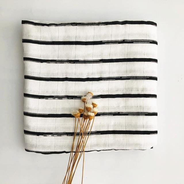 Natural Bamboo and Cotton Small Muslin Scarf / Baby Blanket