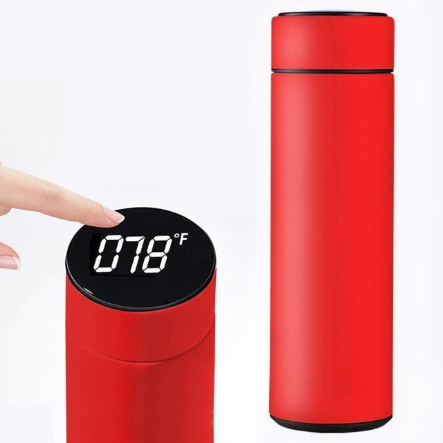 Stainless Steel Smart Water Bottle with LCD Temperature Display
