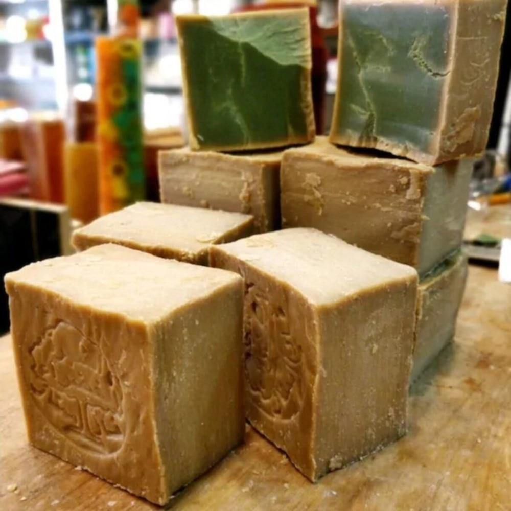 Original Aleppo Soap 200g Natural Laurel Syrian Soap Handmade  Organic Soap Skin Care for Beauty Fair Bright Clear & Soft Skin - Earth Thanks - Original Aleppo Soap 200g Natural Laurel Syrian Soap Handmade  Organic Soap Skin Care for Beauty Fair Bright Clear & Soft Skin -