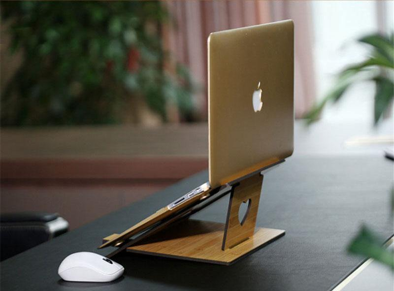 Portable Bamboo Laptop Stand - Earth Thanks - Portable Bamboo Laptop Stand - natural, vegan, eco-friendly, organic, sustainable, accessories, anti-microbial, antibacterial, antimicrobial, bamboo, compostable, computer, computer holder, disposable, electronic, holder, ipad, laptop holder, non tossico, non toxic, office, organization, portable, recyclable, recycle, recycle friendly, reusable, school, stationery, sterile, tablet, tablet stand, vegan friendly, wood, wooden