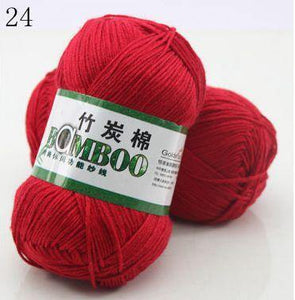 Natural Bamboo Cotton Hand Woven Ball of Yarn