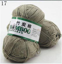 Load image into Gallery viewer, Natural Bamboo Cotton Hand Woven Ball of Yarn