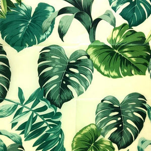 Reusable Beeswax Food Wrap Wide leaves / L 33x35cm / Green Home & Kitchen - earth-thanks.myshopify.com