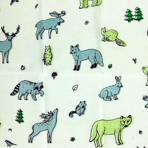 Reusable Beeswax Food Wrap Wild animals / S 17.5x20cm / Green Home & Kitchen - earth-thanks.myshopify.com