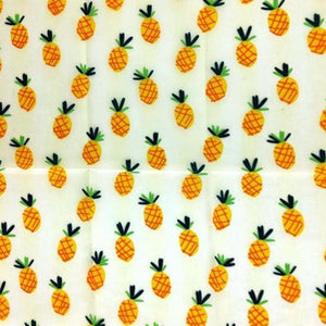 Reusable Beeswax Food Wrap Pineapple / L 33x35cm / White Home & Kitchen - earth-thanks.myshopify.com