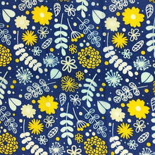 Load image into Gallery viewer, Reusable Beeswax Food Wrap Flowers on blue / S 17.5x20cm / Blue Home & Kitchen - earth-thanks.myshopify.com