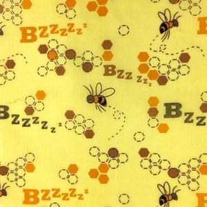 Reusable Beeswax Food Wrap Bzzz / S 17.5x20cm / Yellow Home & Kitchen - earth-thanks.myshopify.com