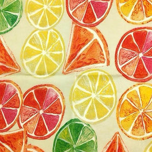 Reusable Beeswax Food Wrap Oranges / S 17.5x20cm / Orange Home & Kitchen - earth-thanks.myshopify.com