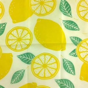 Reusable Beeswax Food Wrap Lemon / L 33x35cm / Yellow Home & Kitchen - earth-thanks.myshopify.com