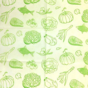 Reusable Beeswax Food Wrap Vegetables and fish / S 17.5x20cm / Green Home & Kitchen - earth-thanks.myshopify.com