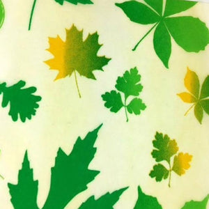 Reusable Beeswax Food Wrap Autumn leaves / L 33x35cm / Green Home & Kitchen - earth-thanks.myshopify.com