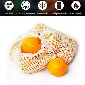 Reusable Organic Cotton Mesh Bags [variant_title] Home & Kitchen - earth-thanks.myshopify.com