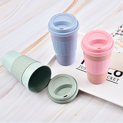 Reusable Wheat Straw Coffee Cup with Lid