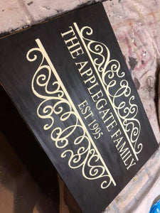 Custom Wood Sign | Wide
