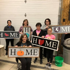 Wood Project | Interchangeable HOME Sign