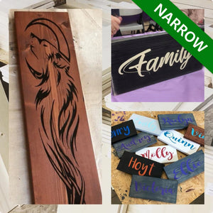 Custom Wood Sign | Narrow