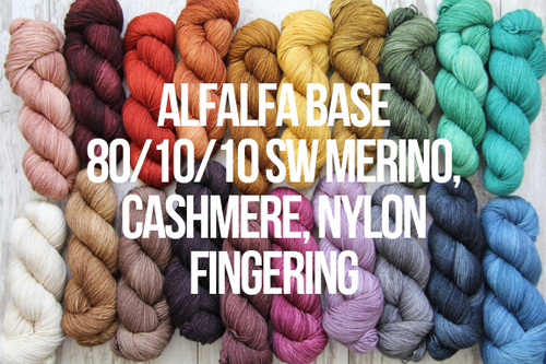 Dyed to Order Tonals • MCN Fingering • 80/10/10 Superwash Merino, Cashmere, Nylon • Fingering Weight